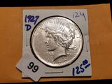 Better Date 1927-D Peace Dollar