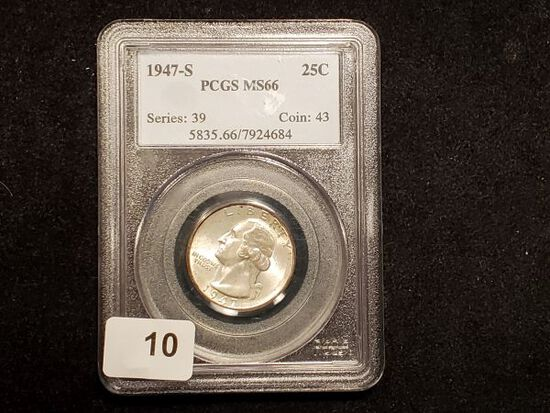 PCGS 1947-S Washington Quarter in MS-66