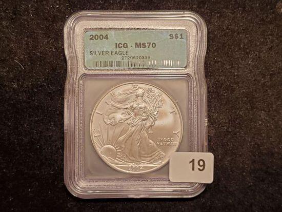 ICG 2004 American Silver Eagle MS-70