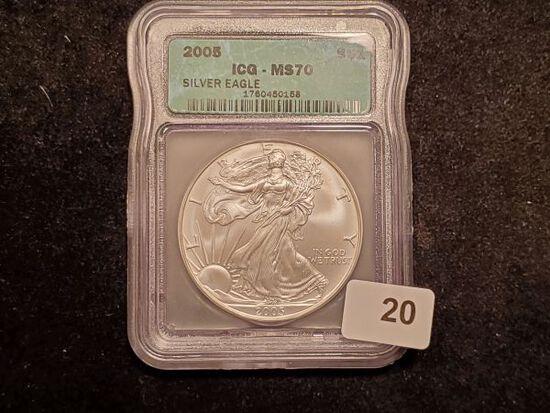 ICG 2005 American Silver Eagle MS-70