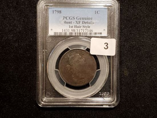 ***PCGS 1798 Draped Bust large Cent in Extra Fine-details