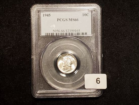 PCGS 1945 Mercury Dime in MS-66