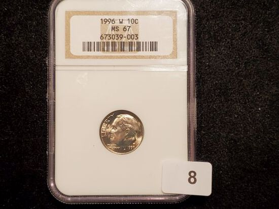 KEY DATE NGC 1996-W Roosevelt Dime in MS-67