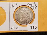 WOW! 1827 Capped Bust Half Dollar in Extra Fine condition