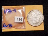 1896-O Morgan Dollar in About Uncirculated