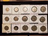Fifteen nicer condition World coins