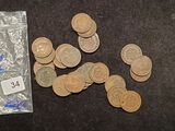 Bag of 25 Indian Cents