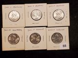 Six Brilliant Uncirculated 2000 and 2001 State Quarters