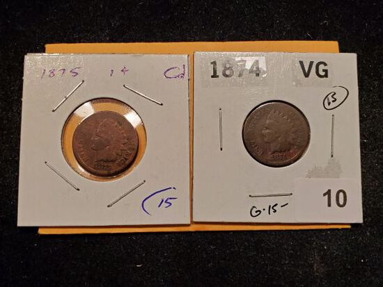 Two semi-Key Indian cents