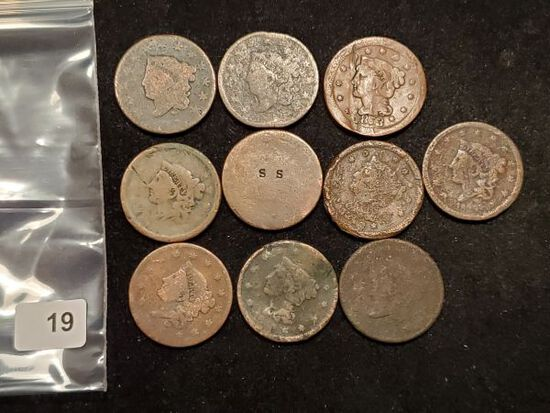 Ten Cull Large Cents