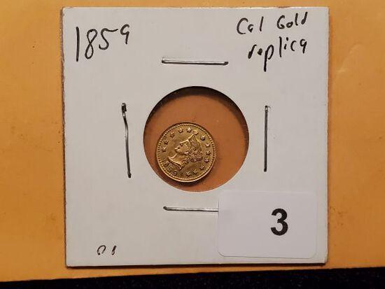 GOLD! 1859 California Gold Token replica