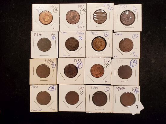 Sixteen Indian Cents