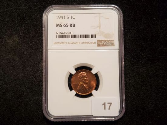 NGC 1941-S Wheat Cent in MS-65 RB