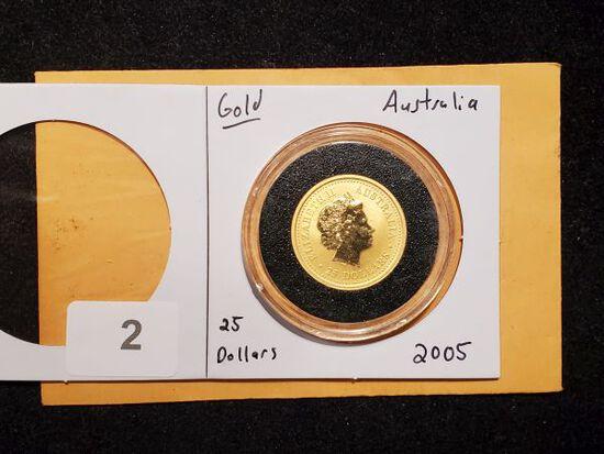 GOLD! Australia 2005 $25 Dollar