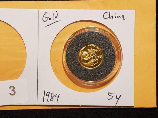 GOLD! China 1984 5y gold Panda