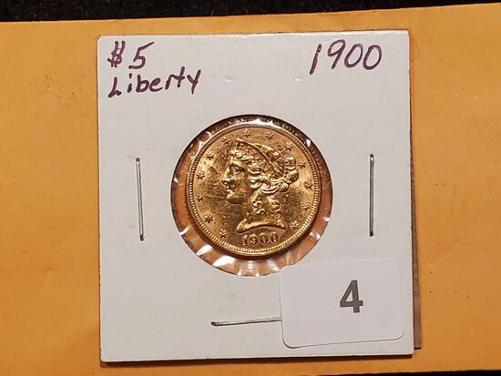 GOLD! 1900 Liberty Head $5 Half-Eagle