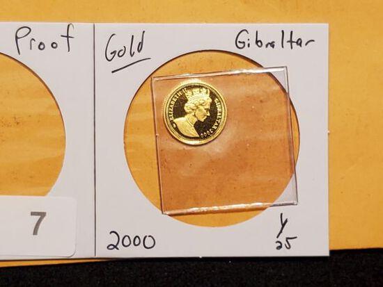 GOLD! Gibraltar 2000 Royal cherubs 1/25 gold