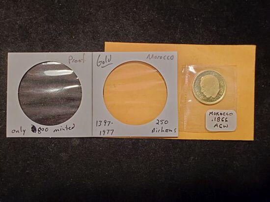 GOLD! Proof Morocco 1397-1977 250 dirhams