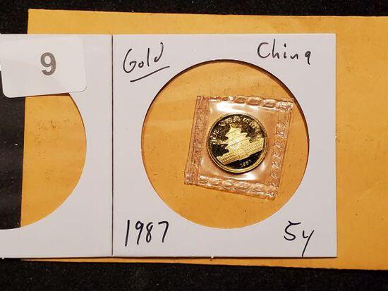 GOLD! China 1987 gold 5y panda