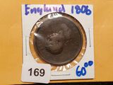 1806 British half penny