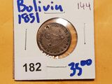 Bolivia 1851 silver 21 millimeter Proclamation medal