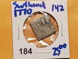 Scottish communion token from Dalkeith Midlothian