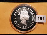 1992 proof silver dollar from the  Solomon Islands