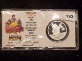 1987 Walt Disney Snow White & 7 Dwarves Silver Round