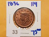 1836 Coronet Head Large Cent