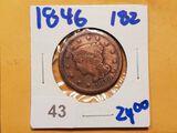 1846 Braided Hair Large Cent