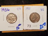 Two Better Grade Nickels