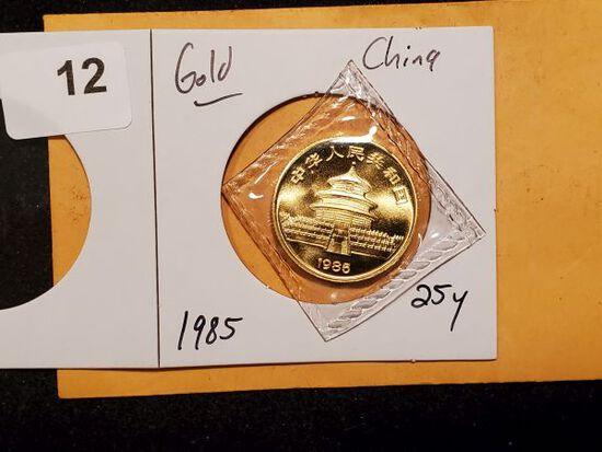GOLD! China 1985 Panda 25 Y