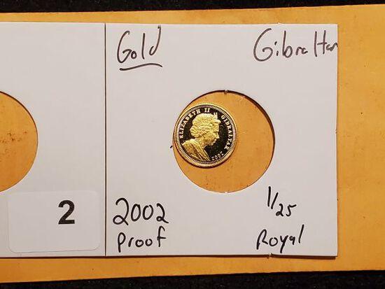 GOLD! Gibraltar 2002 1/25 royal Proof