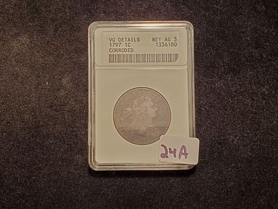 ANACS 1797 Draped Bust Large Cent Very Good details