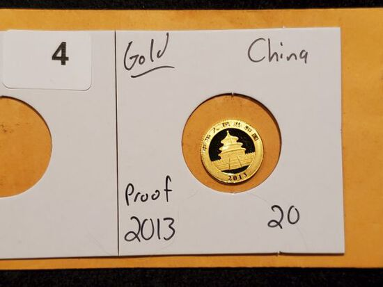 GOLD! China 2013 Proof 20