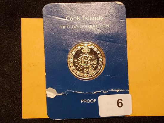 GOLD! Cook Islands Fifty Dollar Proof Gold coin from 1981