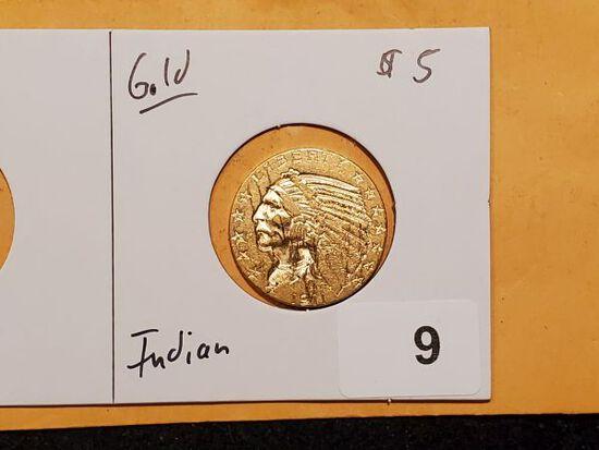GOLD! Indian Head $5 gold half-eagle