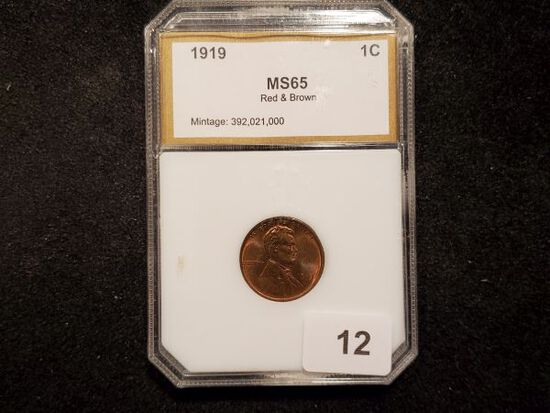 PCI 1919 Wheat Cent in MS-65 RB