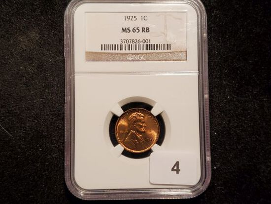 NGC 1925 Wheat Cent in MS-65 RB
