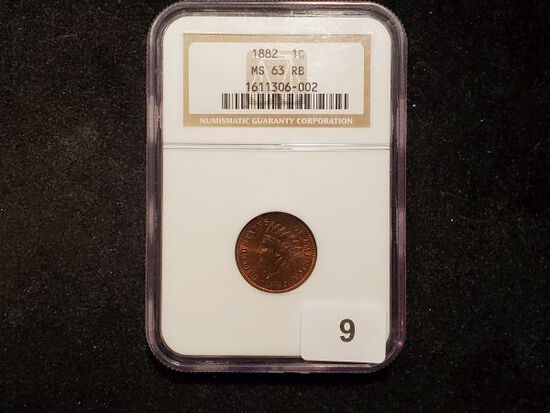 Gorgeous NGC 1882 Indian cent in MS-63 RB