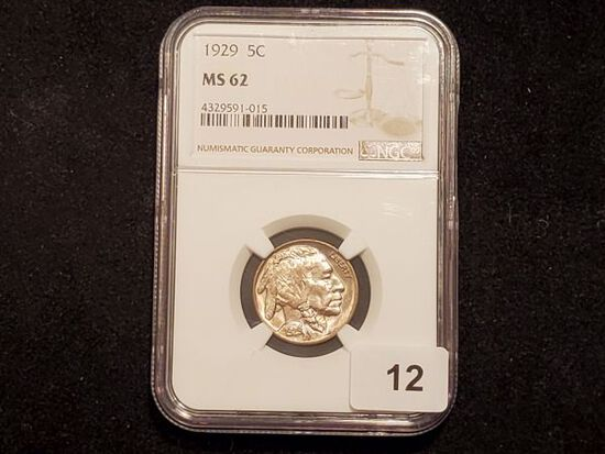NGC 1929 Buffalo Nickel in MS-62