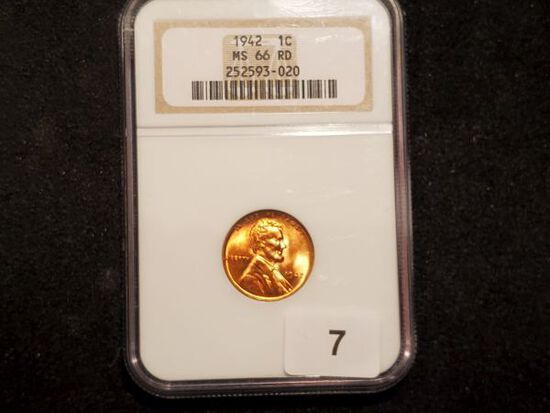 NGC 1942 Wheat Cent in MS-66 RED
