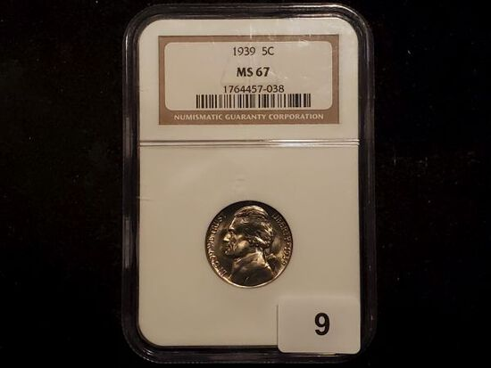 *WOW! 1939 Jefferson Nickel Semi-key in High Grade MS-67