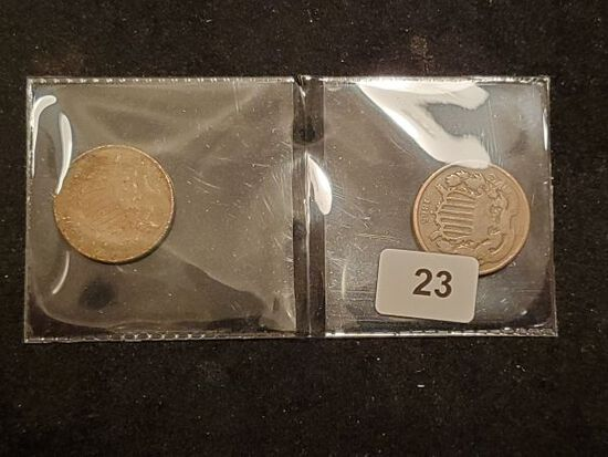 1864 and 1865 Two-Cent pieces