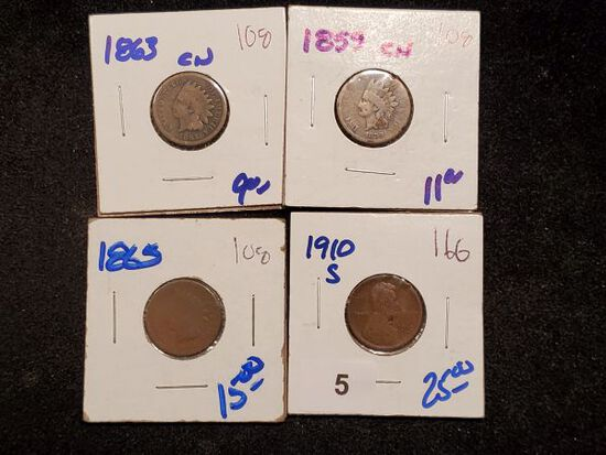 Three Indians and a Wheat cent walk into a coin shop…..
