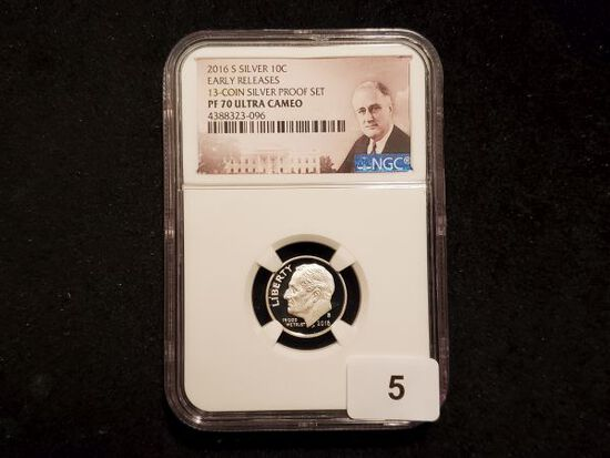 NGC 2016-S SILVER Roosevelt Dime Proof 70 Ultra Cameo