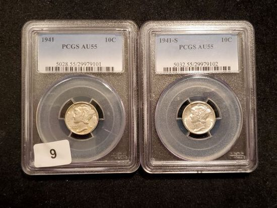 PCGS 1941 and 1941-S Mercury Dimes