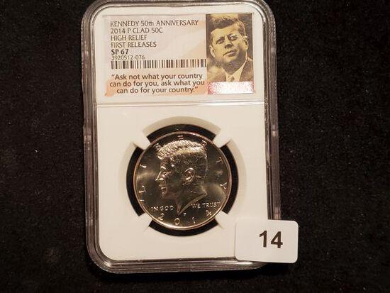 NGC 2014 Kennedy Half Dollar in Specimen 67