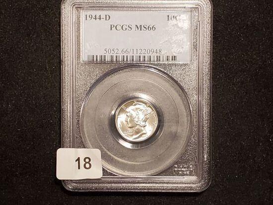 PCGS 1944-D Mercury Dime in MS-66