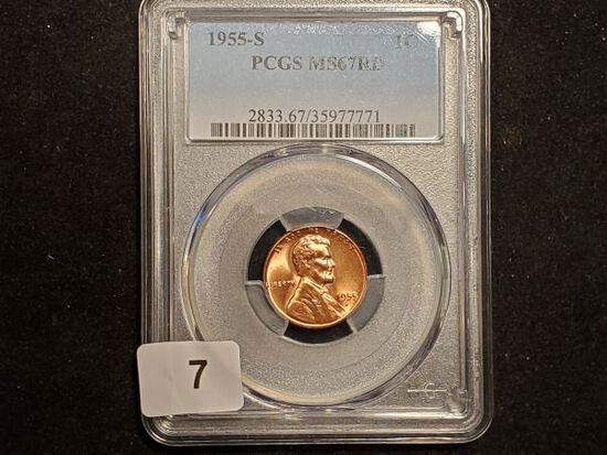 * PCGS 1955-S Wheat Cent in MS-67 RED